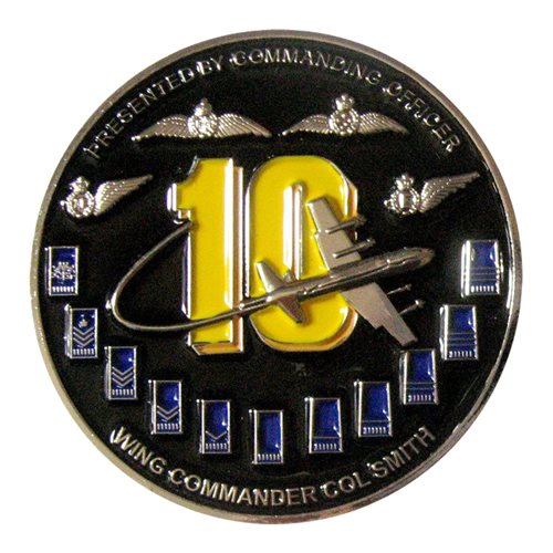 10 SQN RAAF Strike First Challenge Coin  - View 2