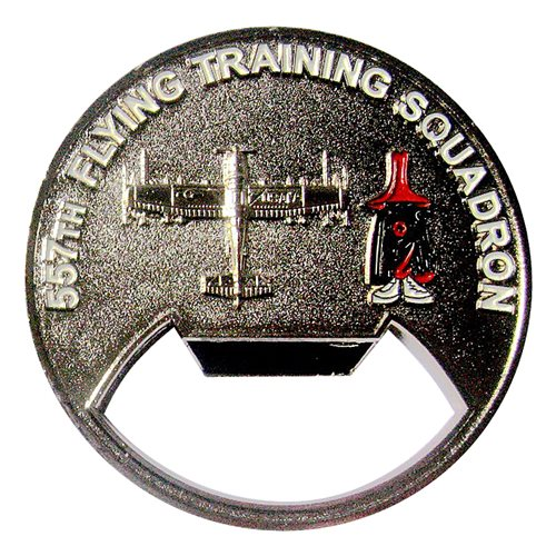 557 FTS USAFA Flying Team Bottle Opener Challenge Coin - View 2