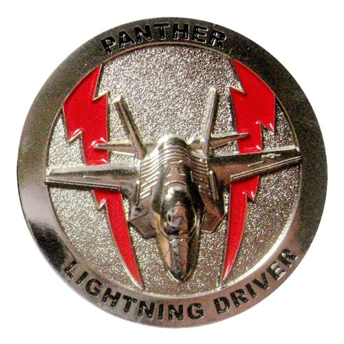 63 FS Lightning Driver Challege Coin - View 2