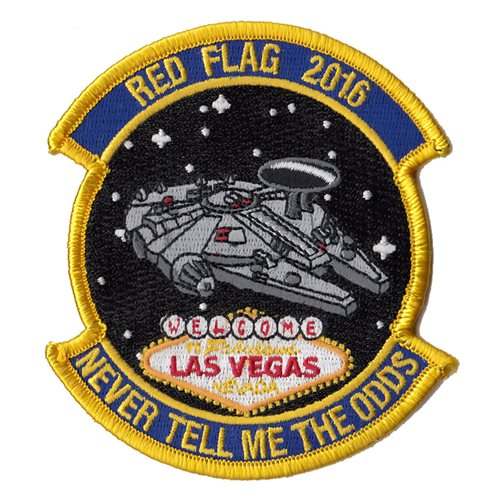 965 AACS Red Flag Patch