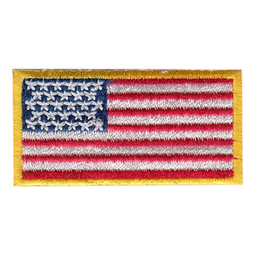 USA Flag Yellow Border Pencil Patch