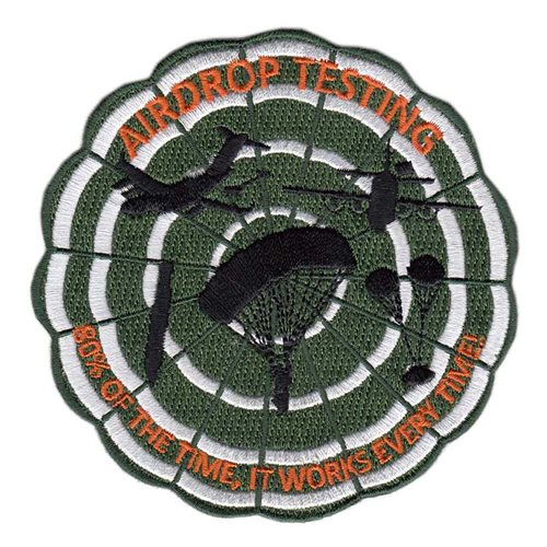 418 FLTS Air Drop Testing Patch