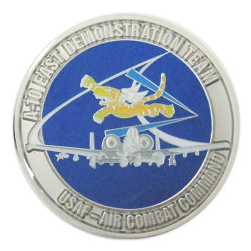 A-10 East Demo Team Custom Air Force Challenge Coin