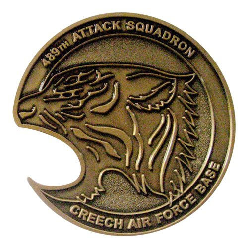 489 Atks Bottle Opener Coin 489 Attack Squadron Coin