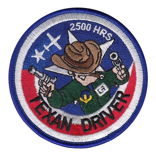 T-6A Texan Driver 2500 Hours Patch