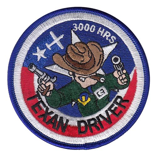 T-6A Texan Driver 3000 Hours Patch
