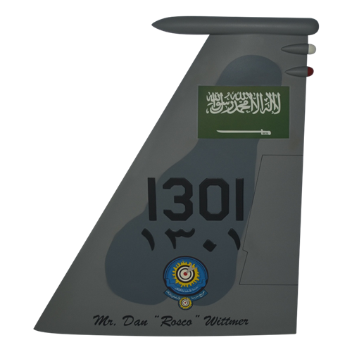 Royal Saudi Air Force F-15C Eagle Custom Airplane Tail Flash