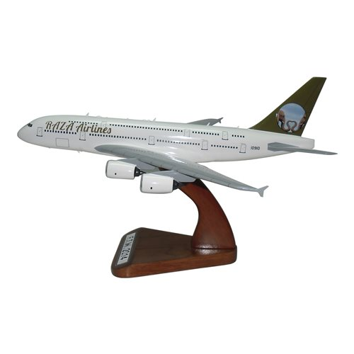 Raza Airlines Airbus A380-800 Custom Arirplane Model - View 2