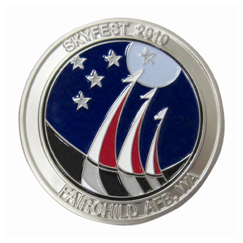 SkyFest 2010 Custom Air Force Challenge Coin