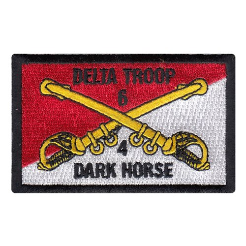 D Troop 4-6 CAV Cap Patch