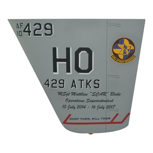 429 ATKS MQ-9 Reaper Custom Airplane Tail Flash