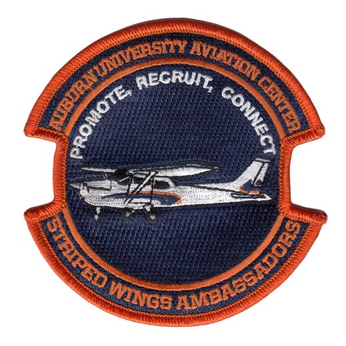 Auburn University Aviation Center Striped Wings Student Ambassadors Patch