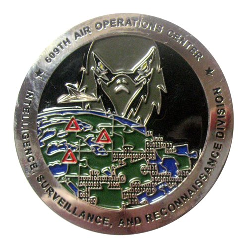 609 AOC Coin Challenge Coin - View 2