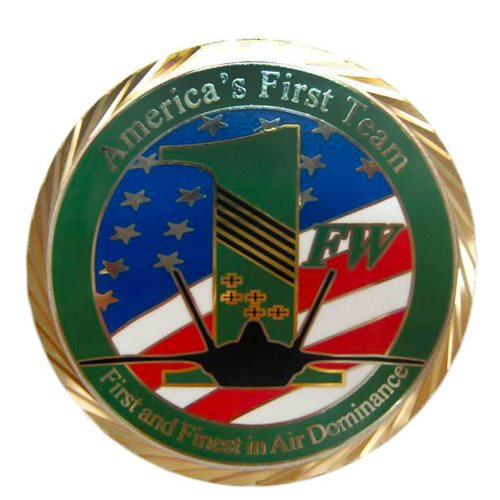 1 FW Custom Air Force Challenge Coin