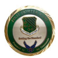 1 FW Custom Air Force Challenge Coin - View 3