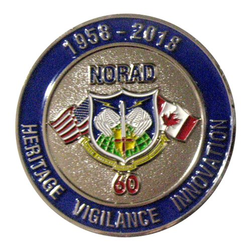 NORAD 60th Anniversary Challenge Coin