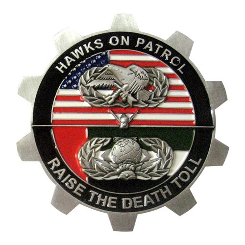 380 EAMXS Hawk Challenge Coin - View 2