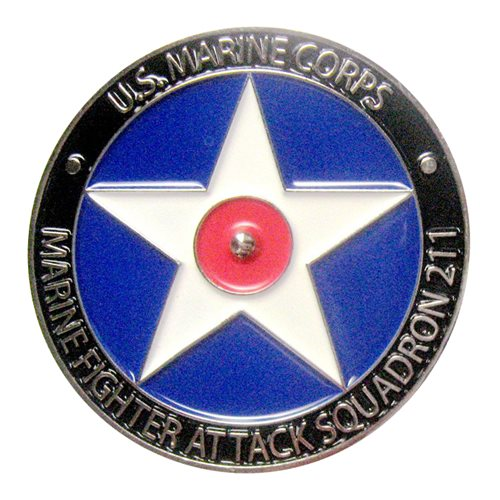 VMFA-211 Spinner Challenge Coin - View 2