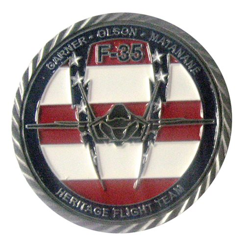 F-35 Heritage Flight Team 2018 Challenge Coin