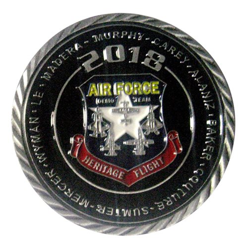 F-35 Heritage Flight Team 2018 Challenge Coin - View 2