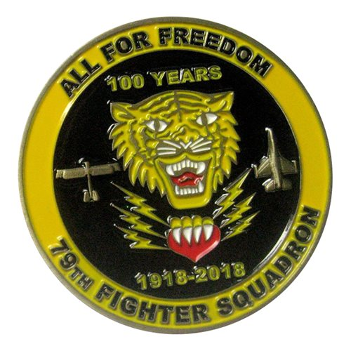 79 Fighter Squadron 100 Year Challenge Coin - View 2