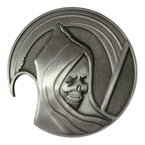 214 RG Reaper Bottle Opener Challenge Coin - View 2