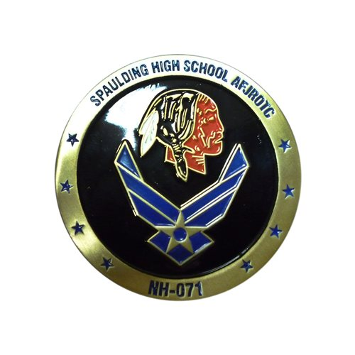 Spaulding HS JROTC Custom Air Force Challenge Coin - View 2