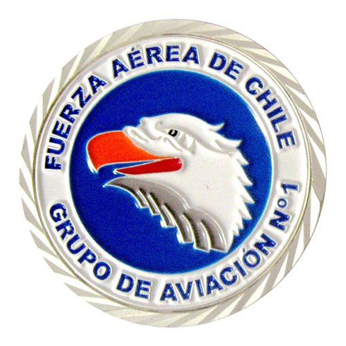 Chilean Air Force 1st Combat Squadron Challenge Coin