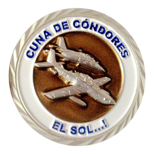 Chilean Air Force 1st Combat Squadron Challenge Coin - View 2