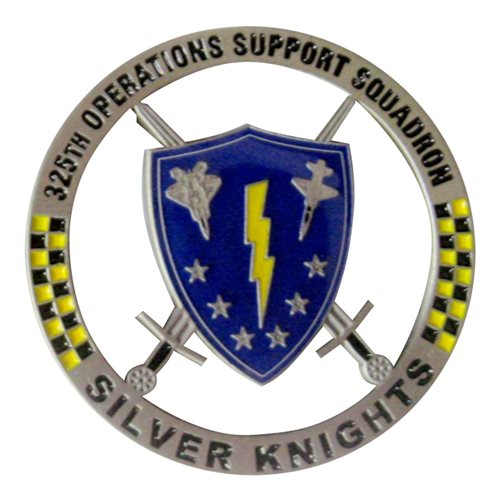 325 OSS Silver Knights Challenge Coin - View 2