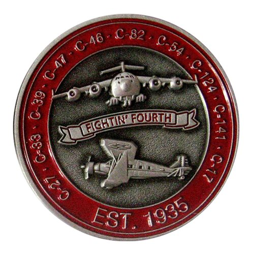4 AS Fightin Fourth Challenge Coin - View 2
