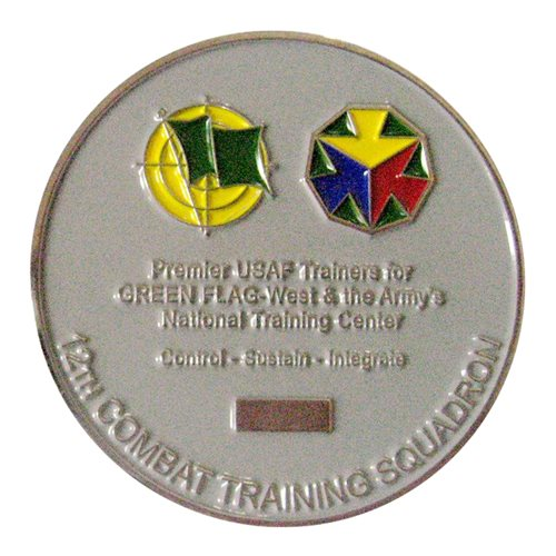 12 CTS Challenge Coin - View 2