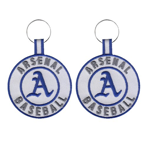 Arsenal Baseball Team Keychain