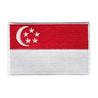 Singapore Flag Color Patch