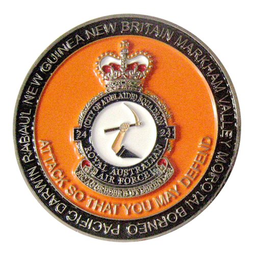 No 24 Squadron RAAF Challenge Coin