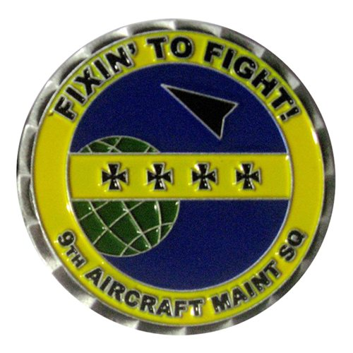 9 AMXS Commander Challenge Coin