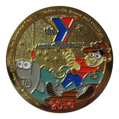 ASYMCA Alaska Combat Fishing 2014 Challenge Coin - View 2