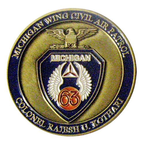 CAP Michigan Wing Commander Challenge Coin