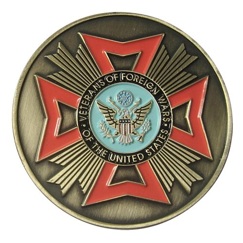 VFW Memorial Challenge Coin - View 2