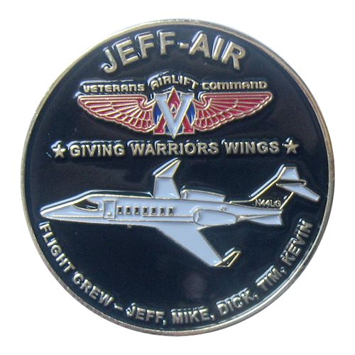 Jeff Air Veterans Airlift Command Coin