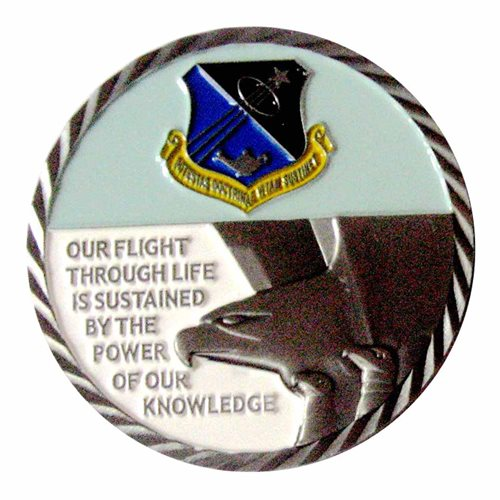 USAFA Academics DF Challenge Coin - View 2
