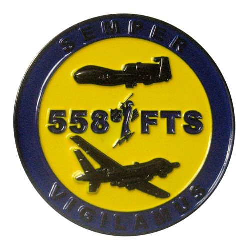 558 FTS Commander Challenge Coin
