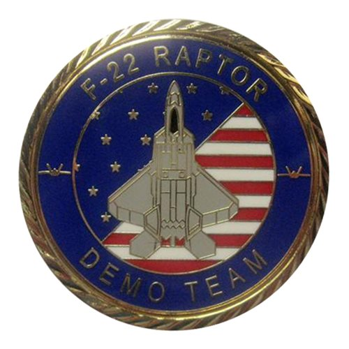 F-22 Demo Team 2019 Gold Challenge Coin