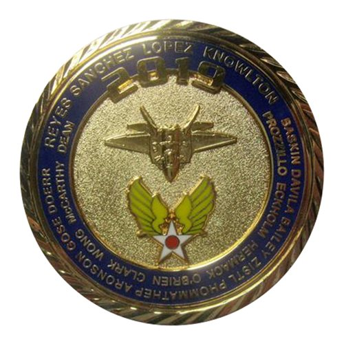 F-22 Demo Team 2019 Gold Challenge Coin - View 2