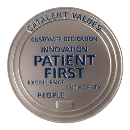 Catalent Pharma Solutions Challenge Coin - View 2
