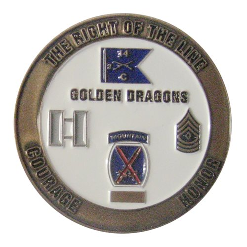 C Co 2-14 IN Challenge Coin - View 2