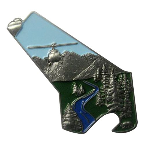 40 HS Tail Flash Bottle Opener Challenge Coin