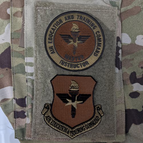 AETC Master Instructor OCP Patch - View 2