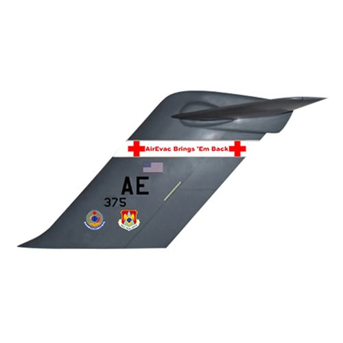 375 AES C-17 Airplane Tail Flash