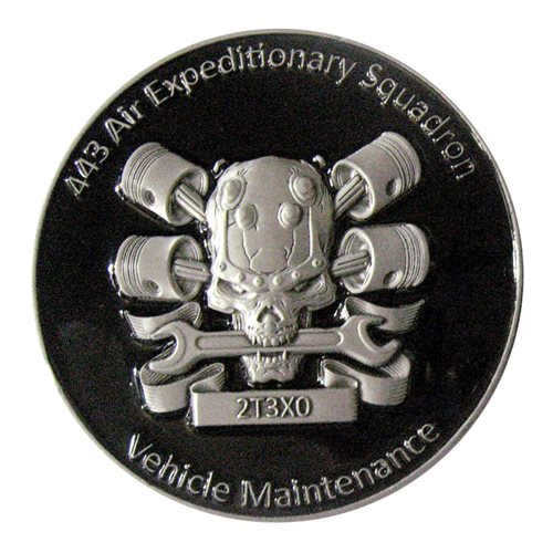 443 AES Vehicle Maintenance  Squadron Vehicle Challenge Coin